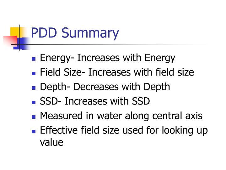 PDD Summary
