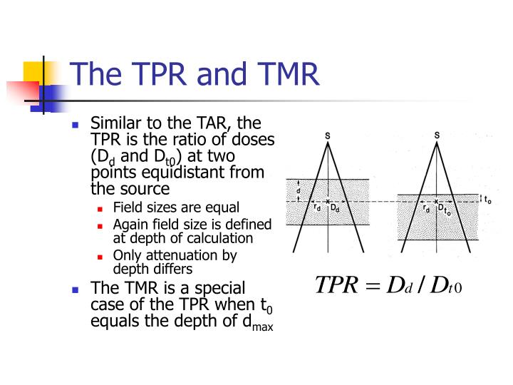 The TPR and TMR