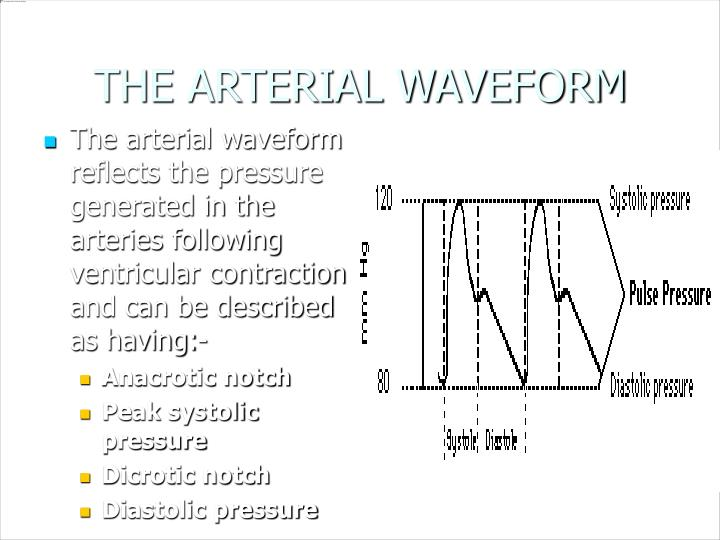 THE ARTERIAL WAVEFORM