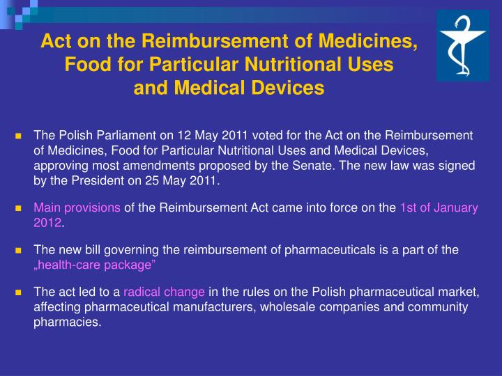 Act on the Reimbursement of Medicines,