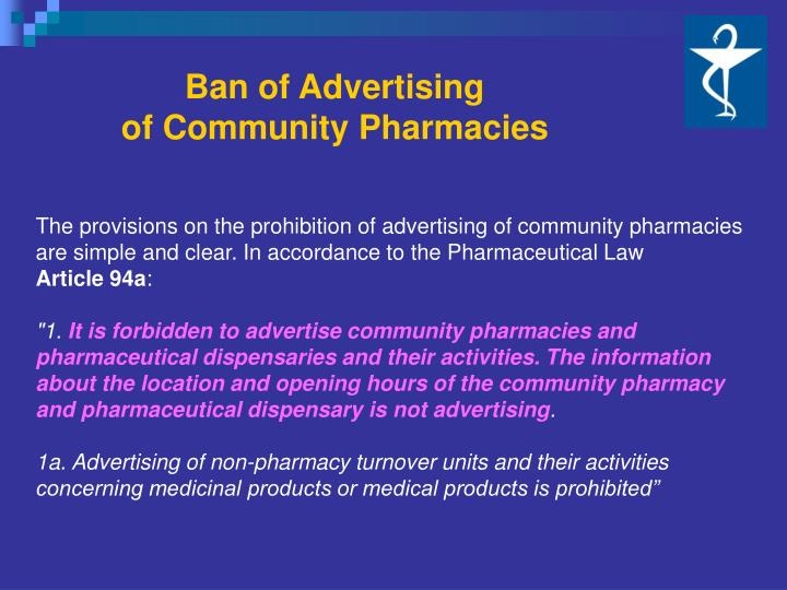 Ban of Advertising