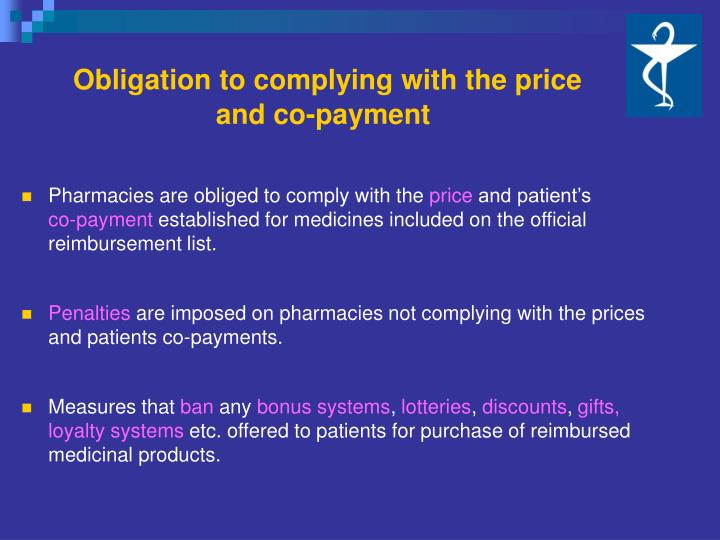 Obligation to complying with the price