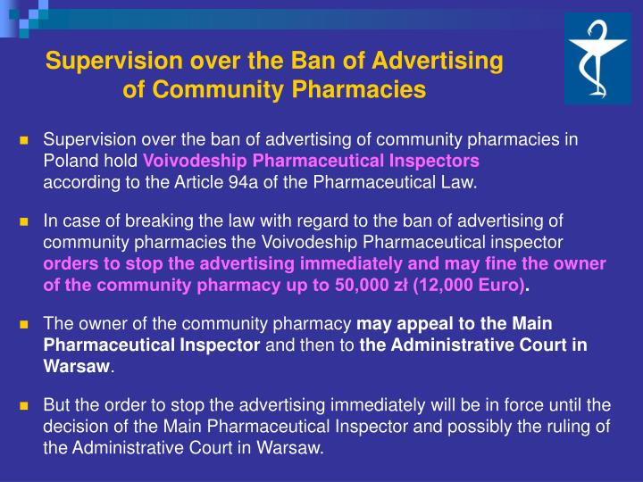 Supervision over the Ban of Advertising