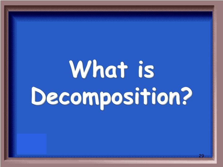 What is Decomposition?