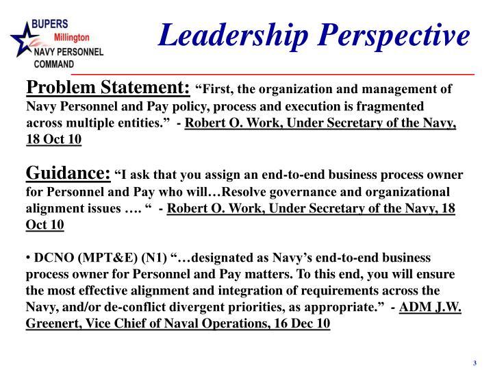 Leadership Perspective