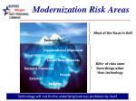 modernization risk areas