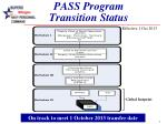 pass program transition status
