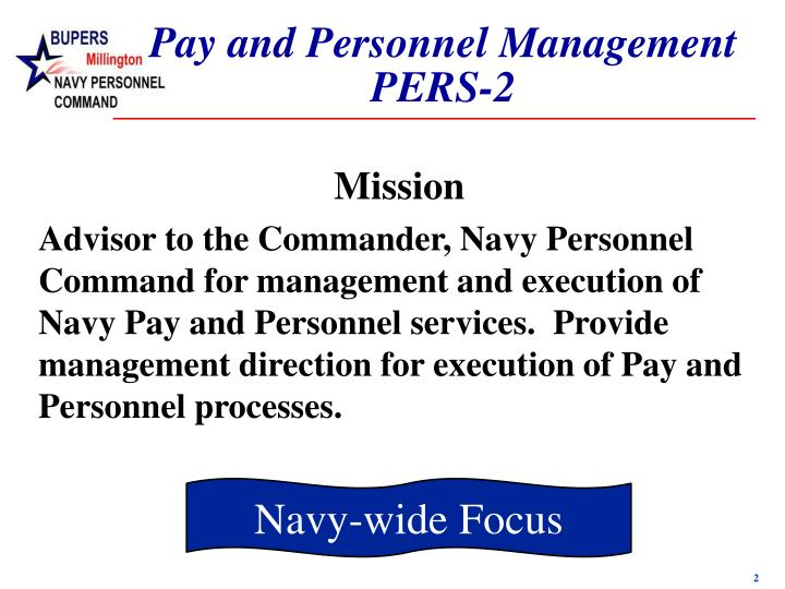 Pay and Personnel Management