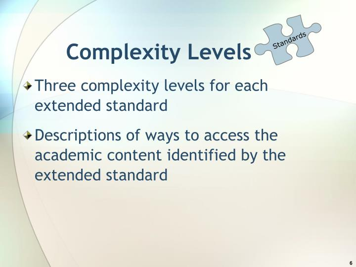 Complexity Levels