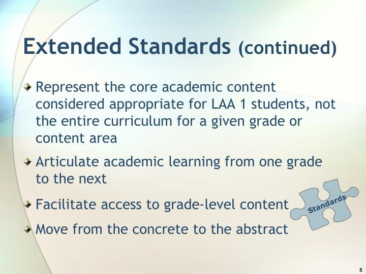 Extended Standards