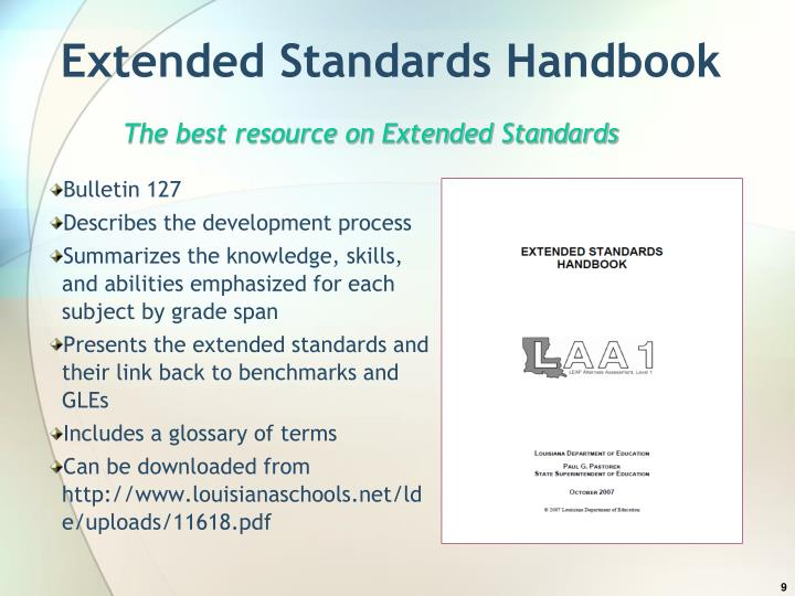 Extended Standards Handbook