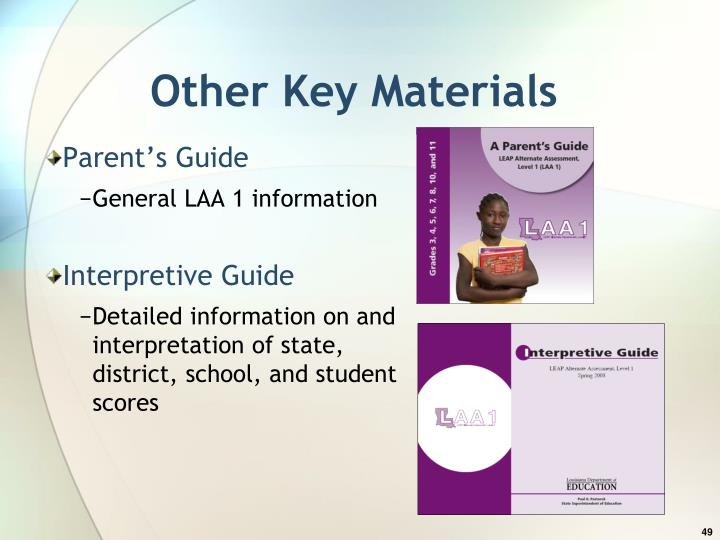 Other Key Materials