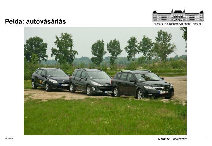 Példa: autóvásárlás