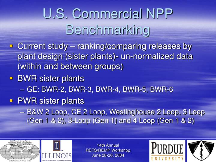 U.S. Commercial NPP Benchmarking