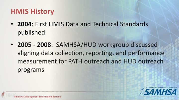 HMIS History
