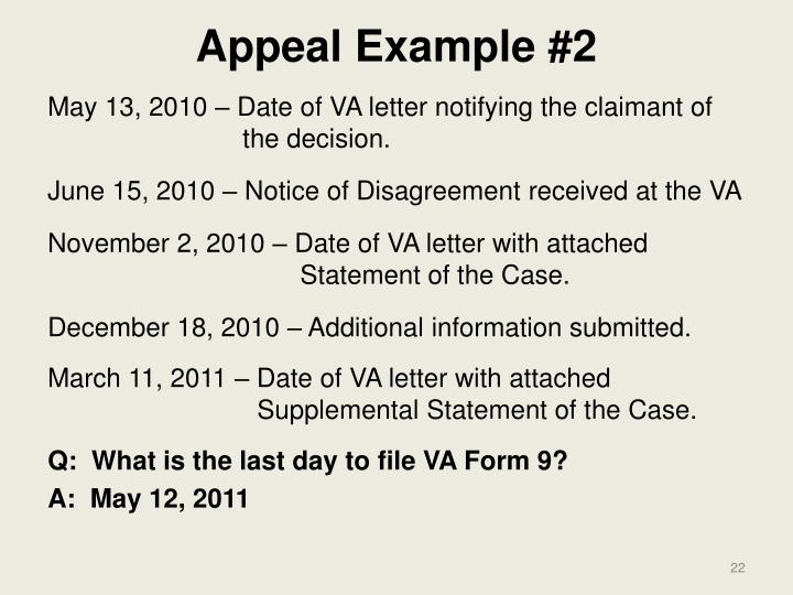 Appeal Example #2