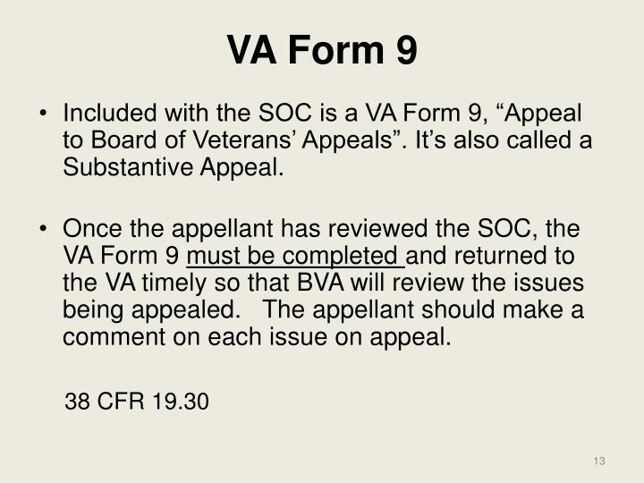 VA Form 9