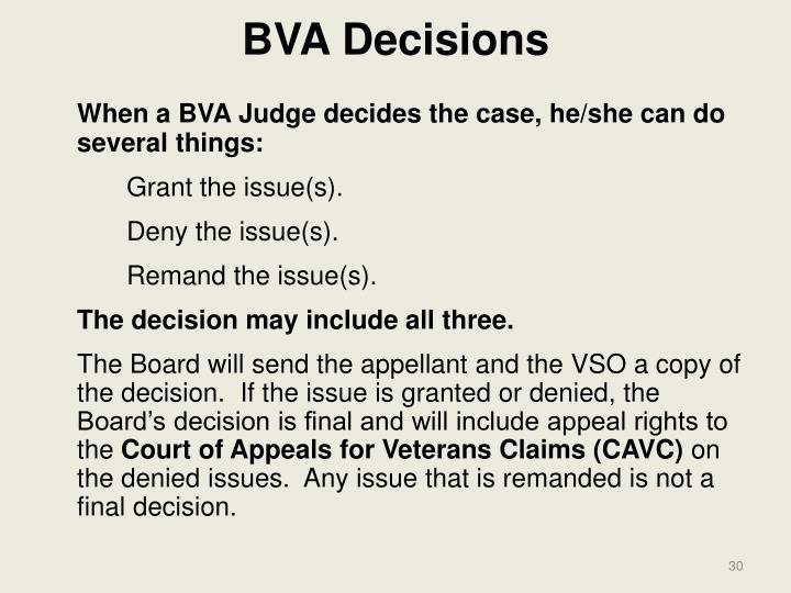 BVA Decisions