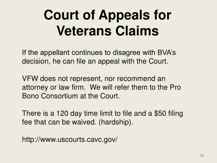 Court of Appeals for Veterans Claims
