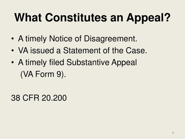What Constitutes an Appeal?