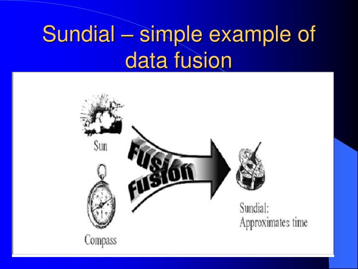 Sundial – simple example of data fusion