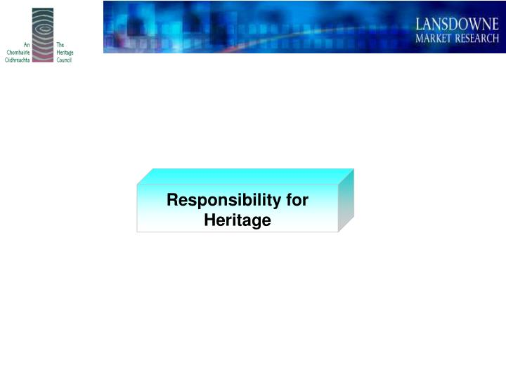 Responsibility for Heritage