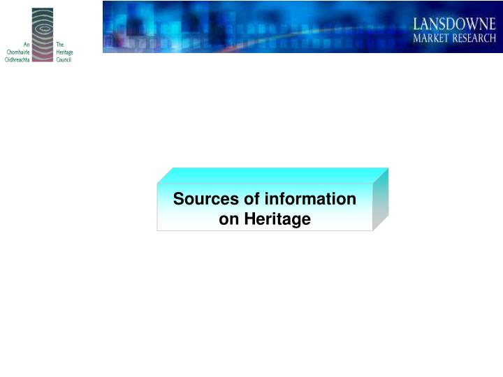 Sources of information on Heritage