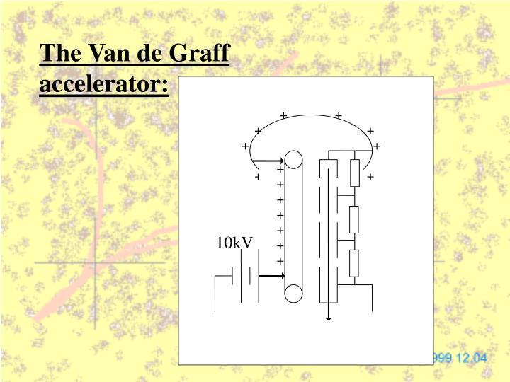 The Van de Graff accelerator: