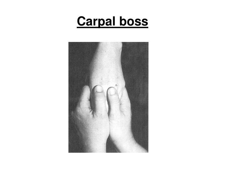 Carpal boss