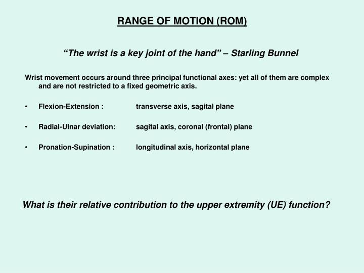 """""""The wrist is a key joint of the hand"""" – Starling Bunnel"""