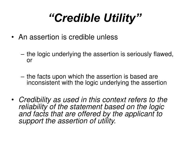 """Credible Utility"""