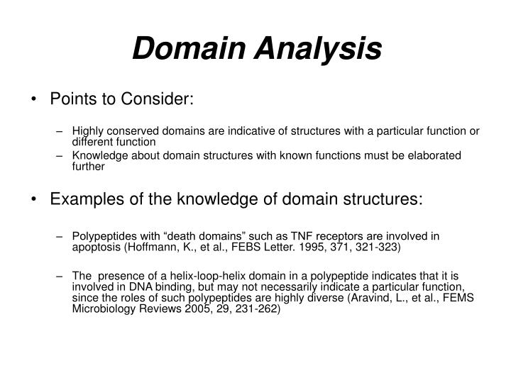Domain Analysis