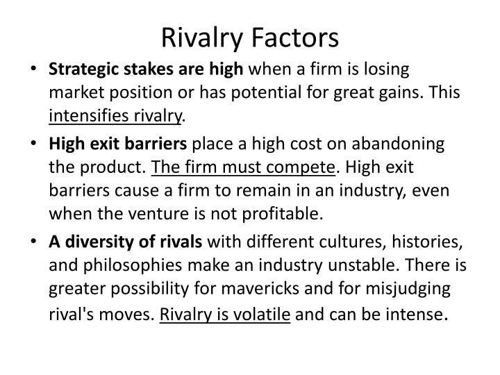 Rivalry Factors