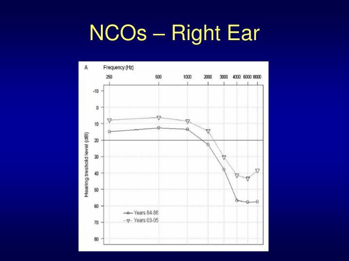 NCOs – Right Ear