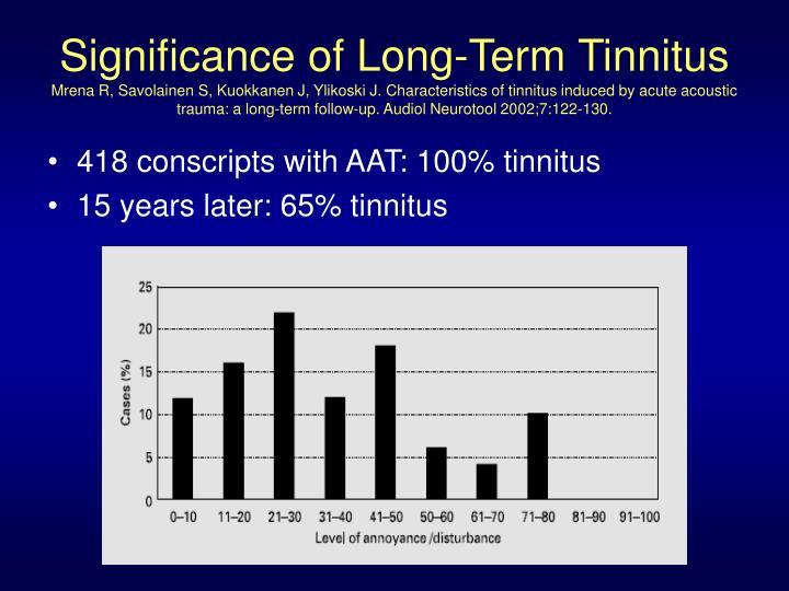 Significance of Long-Term Tinnitus