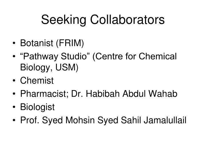 Seeking Collaborators