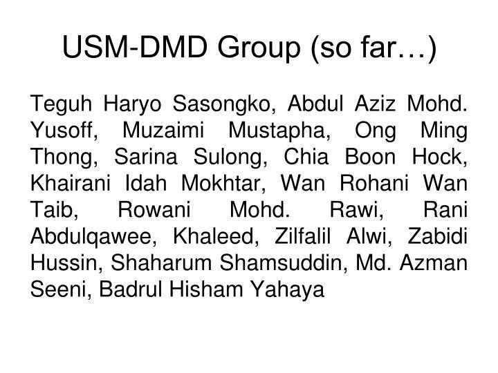 USM-DMD Group (so far…)