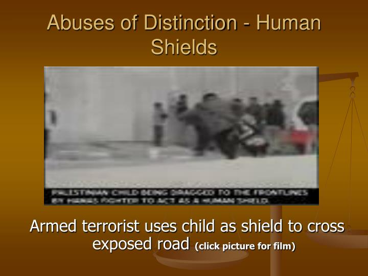 Abuses of Distinction - Human Shields