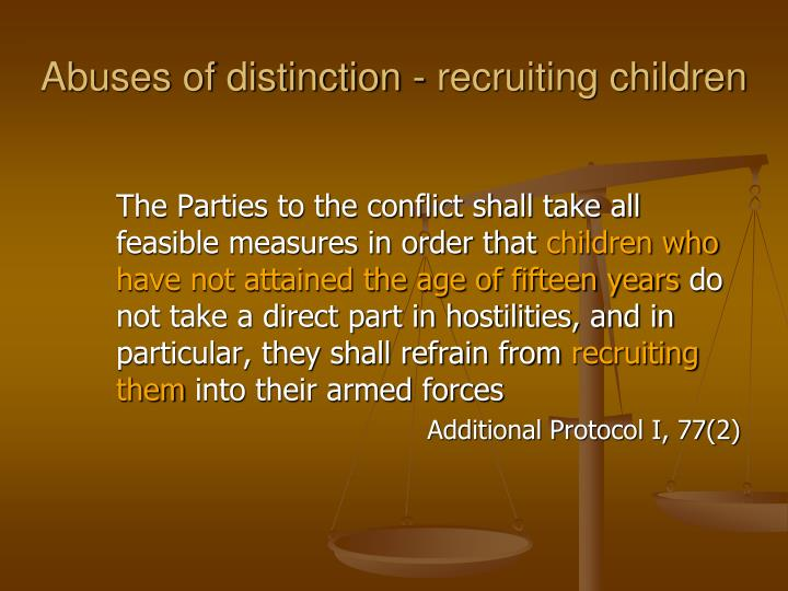 The Parties to the conflict shall take all feasible measures in order that