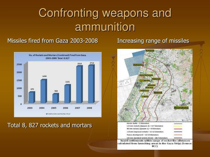 Increasing range of missiles