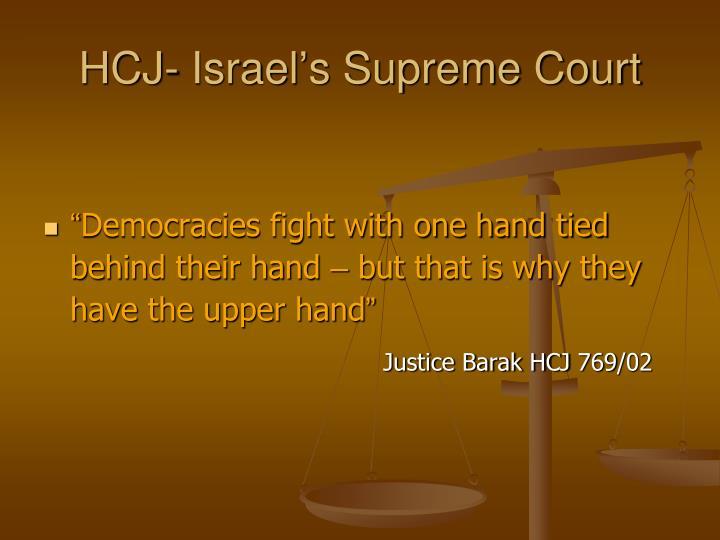 HCJ- Israel's Supreme Court
