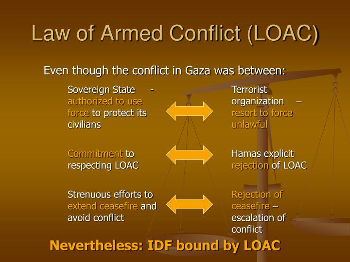 Law of Armed Conflict (LOAC)