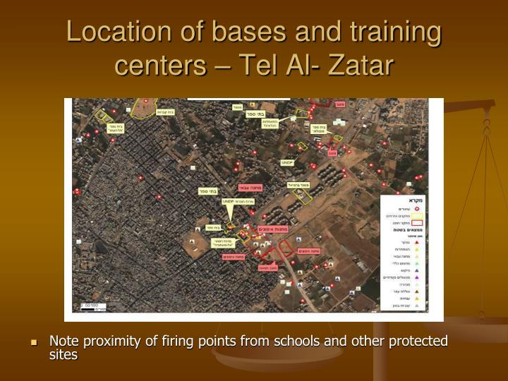 Location of bases and training centers – Tel Al- Zatar