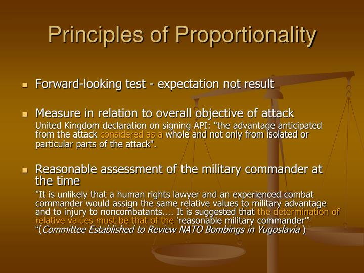 Principles of Proportionality