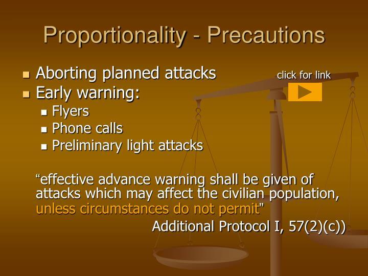 Proportionality - Precautions