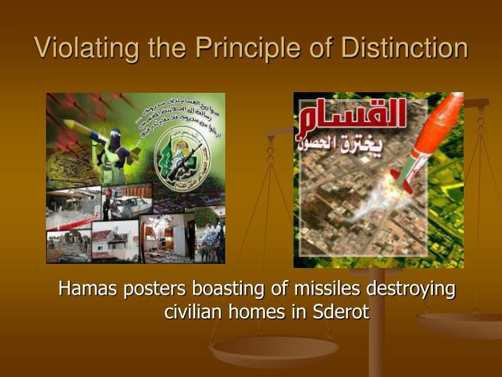 Violating the Principle of Distinction