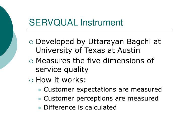 SERVQUAL Instrument