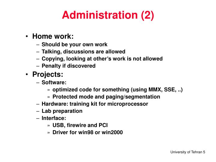 Administration (2)