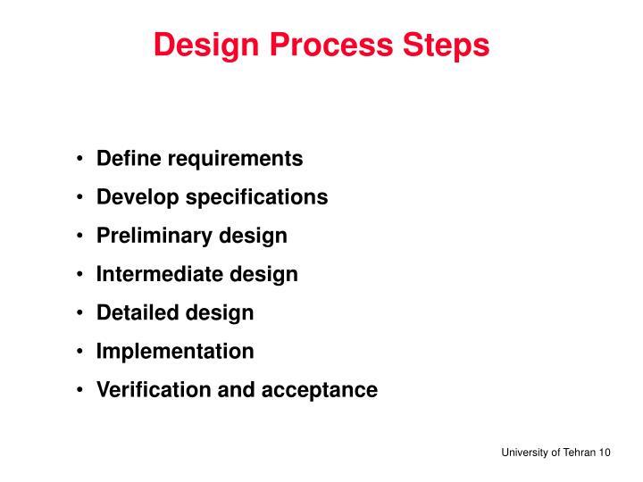 Design Process Steps