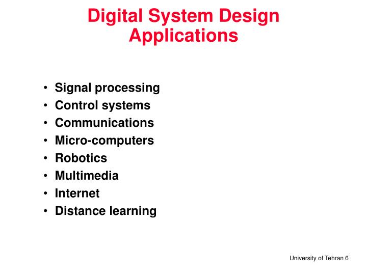 Digital System Design  Applications